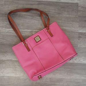 Dooney & Bourke pink leather shoulder bag